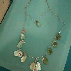 Greenish shell necklace